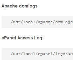 Cpanel log locations