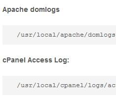 Cpanel log locations