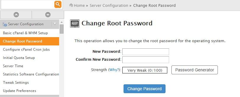 how to change wordpress password in godaddy cpanel