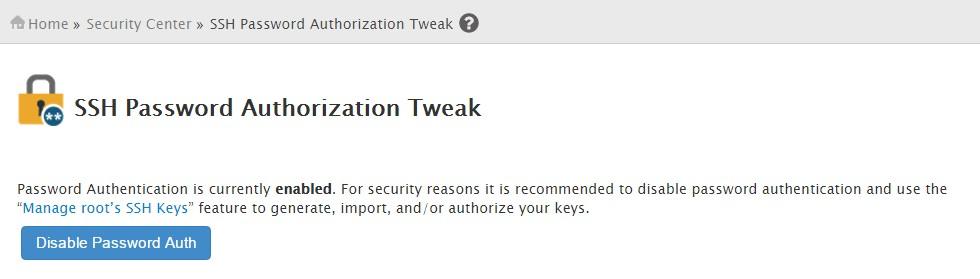 SSH password authorization tweak